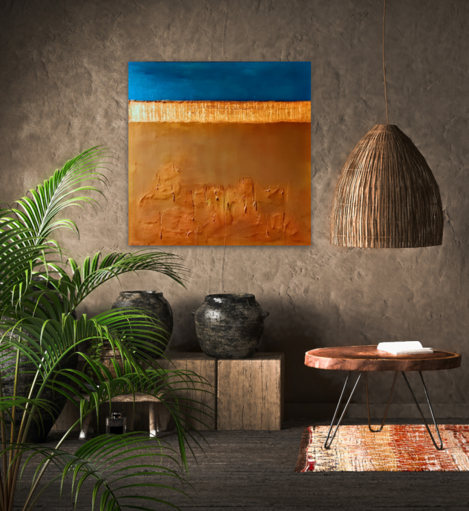 Wandbild, Galerie, Kunst, Original, abstrakt, minimal
