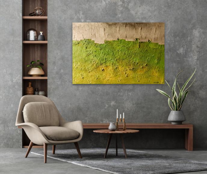 Wandbild Struktur, Sand, Landschaft, Echt, Original, Künstler