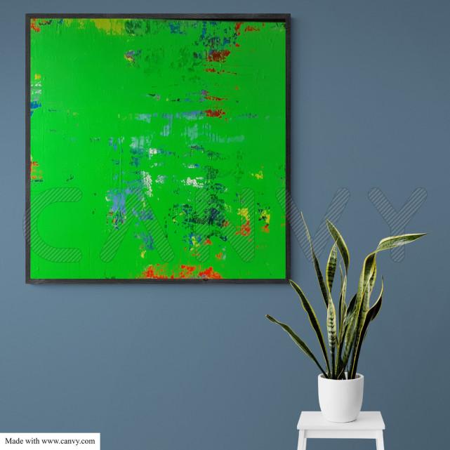 Wandbild, Grün, Malerei, Künstler, Original
