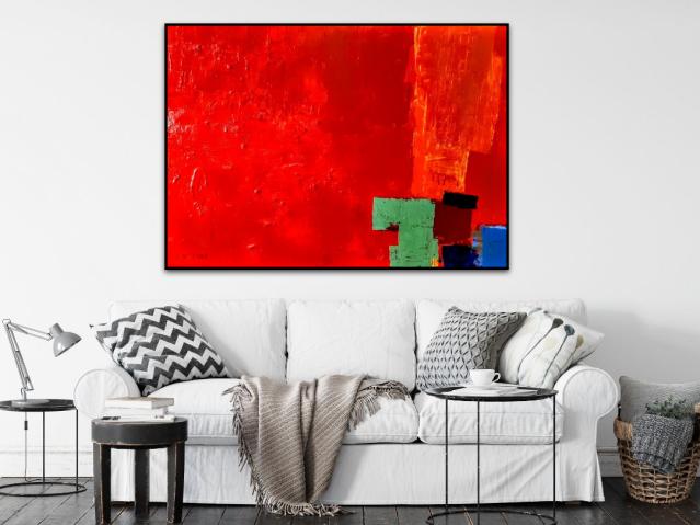 Wandbild, xxl, Rot, Original, Künstler, Malerei, Acryl