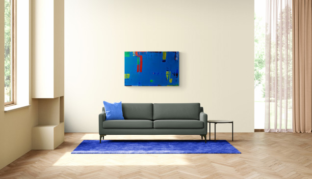 Wandbild, Malerei, Blau, Künstler, original