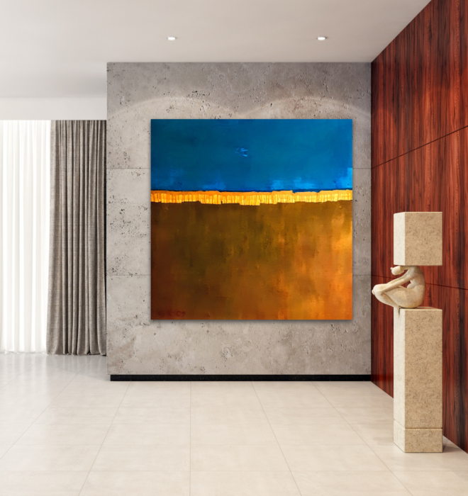 Wandbild xxl, Minimal, Landschaft, Sand, Unikat, Krönes, Atelier