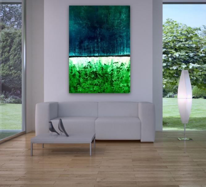 Galerie, Kunsthandlung, Wandbild, Acryl, original, Atelier, Auftragsmalerei, Krönes