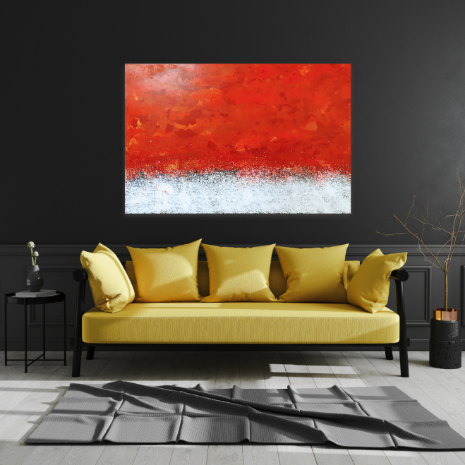 Wandbild Acryl, Rot, original, splash, 150x100 cm