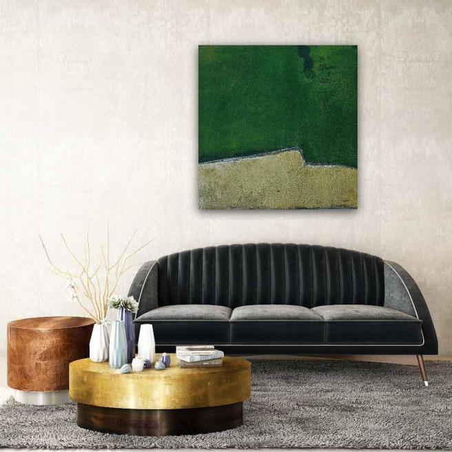 Wandbilder, Unikate, Malerei, Künstler, Atelier, Grün