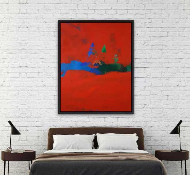 Leinwandbild kaufen xxl, mit Rahmen, Rot, Schwarz