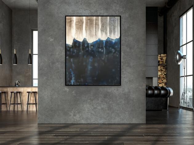 Unikat Leinwandbild xxl, 80x100 cm, Atelier, Krönes